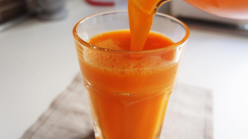 Receita de Suco de Cenoura