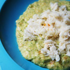 Filé de peixe com queijo e vegetais para bebes