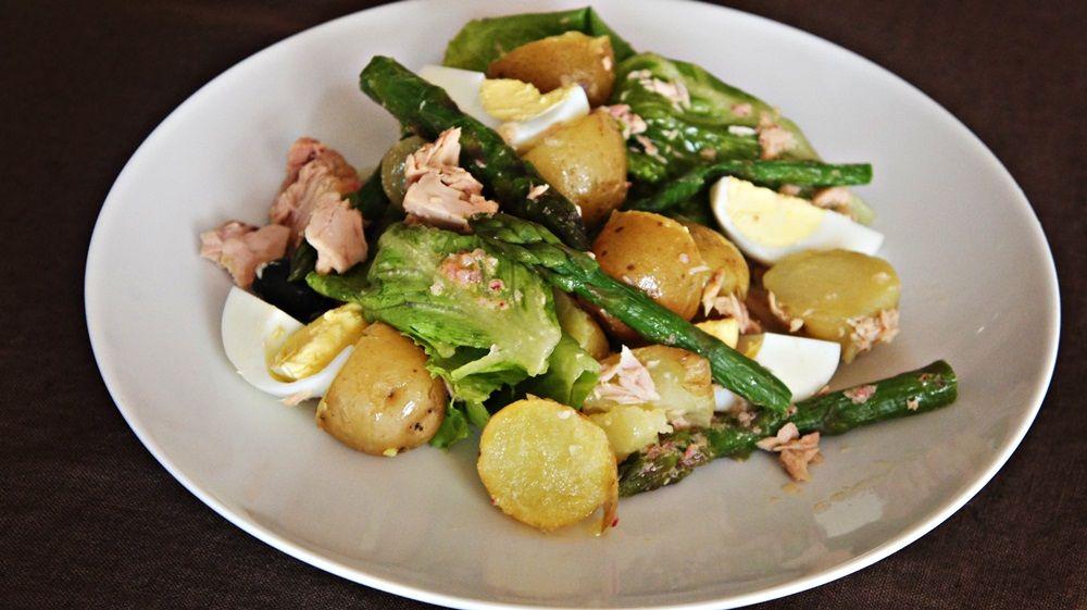 Receita de Salada de Aspargos e Atum