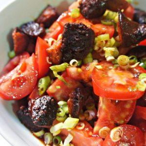 Salada de Tomate e Chorizo do Jamie Oliver
