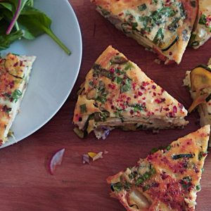 Receita de Omelete de Batata com Abobrinha e Cenoura
