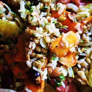 Receita-de-Salada-de-Laranja-Funcho-Lentilha-e-Arroz-Integral