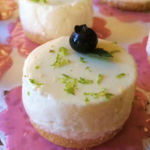 Receita de Mini Cheesecake de Limão com Queijo Tipo Quark